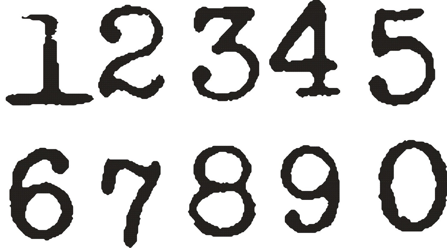 12 Cool Number Fonts 1 Images