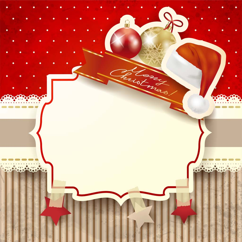 18 Christmas Card Vector Images Merry Christmas