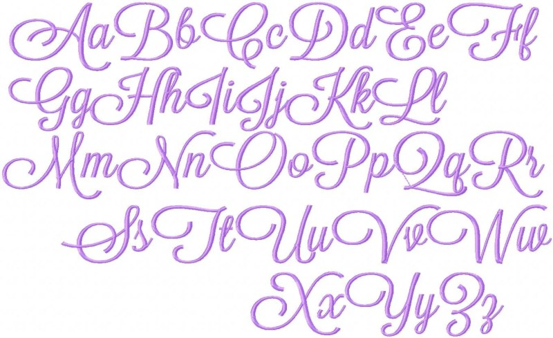 Fancy Cursive Fonts Alphabet Letters