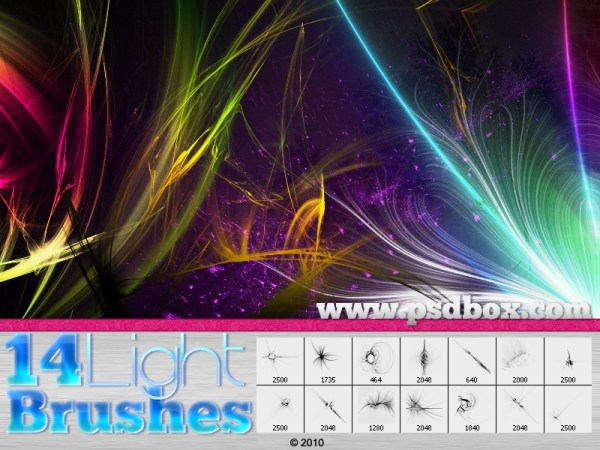9 Light Streak PSD Images Light Streak Photoshop Brushes