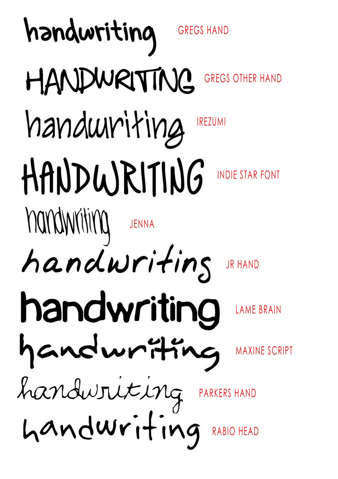 14 Handwriting Fonts For Word Images