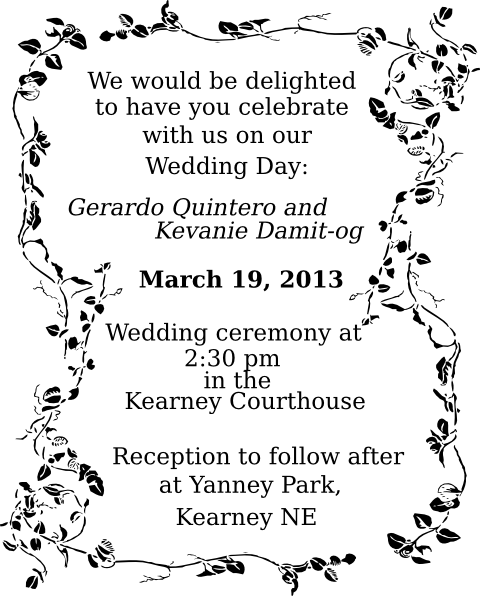 Vector Graphic Wedding Invitation Card
