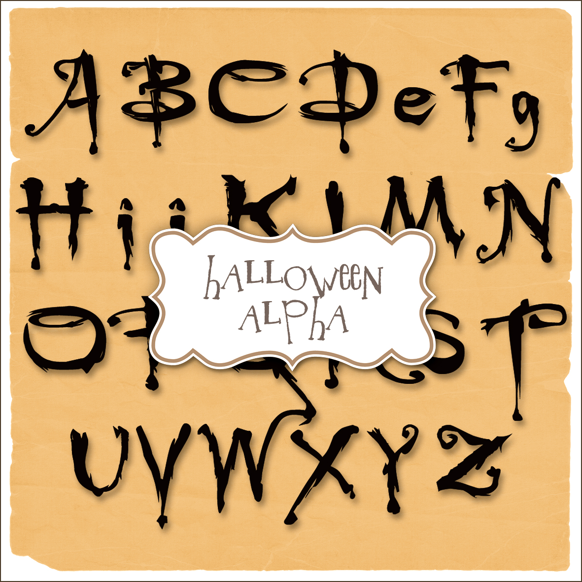 15 Halloween Spooky Font Template Images
