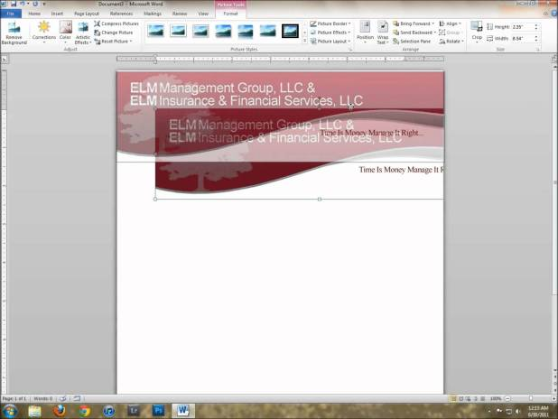 How to create a company letterhead template in word 2010 howtoviews making a letterhead template in word dorit mercatodos co spiritdancerdesigns Images