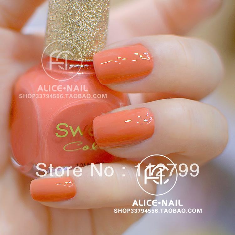 Orange Color Nail Polish