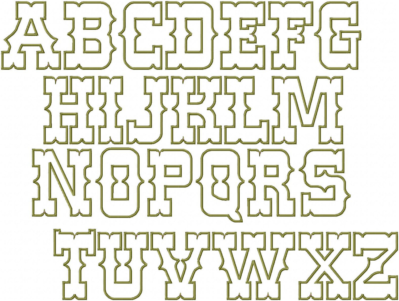 9 Western Cowboy Alphabet Fonts Images
