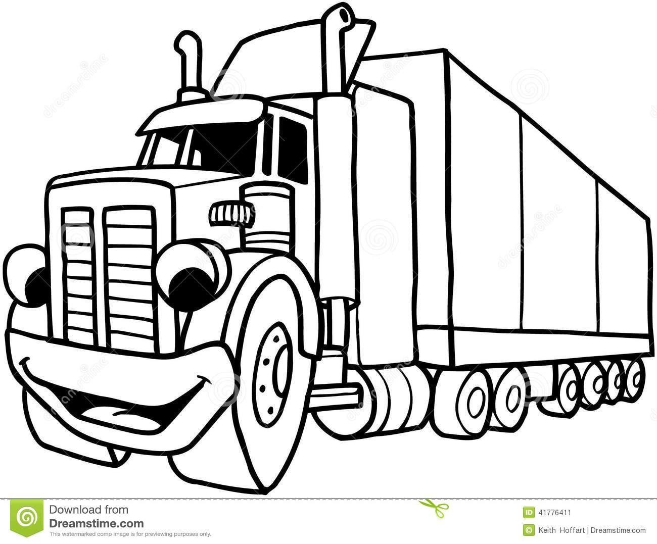 8 Cartoon Semi Truck Vector Images