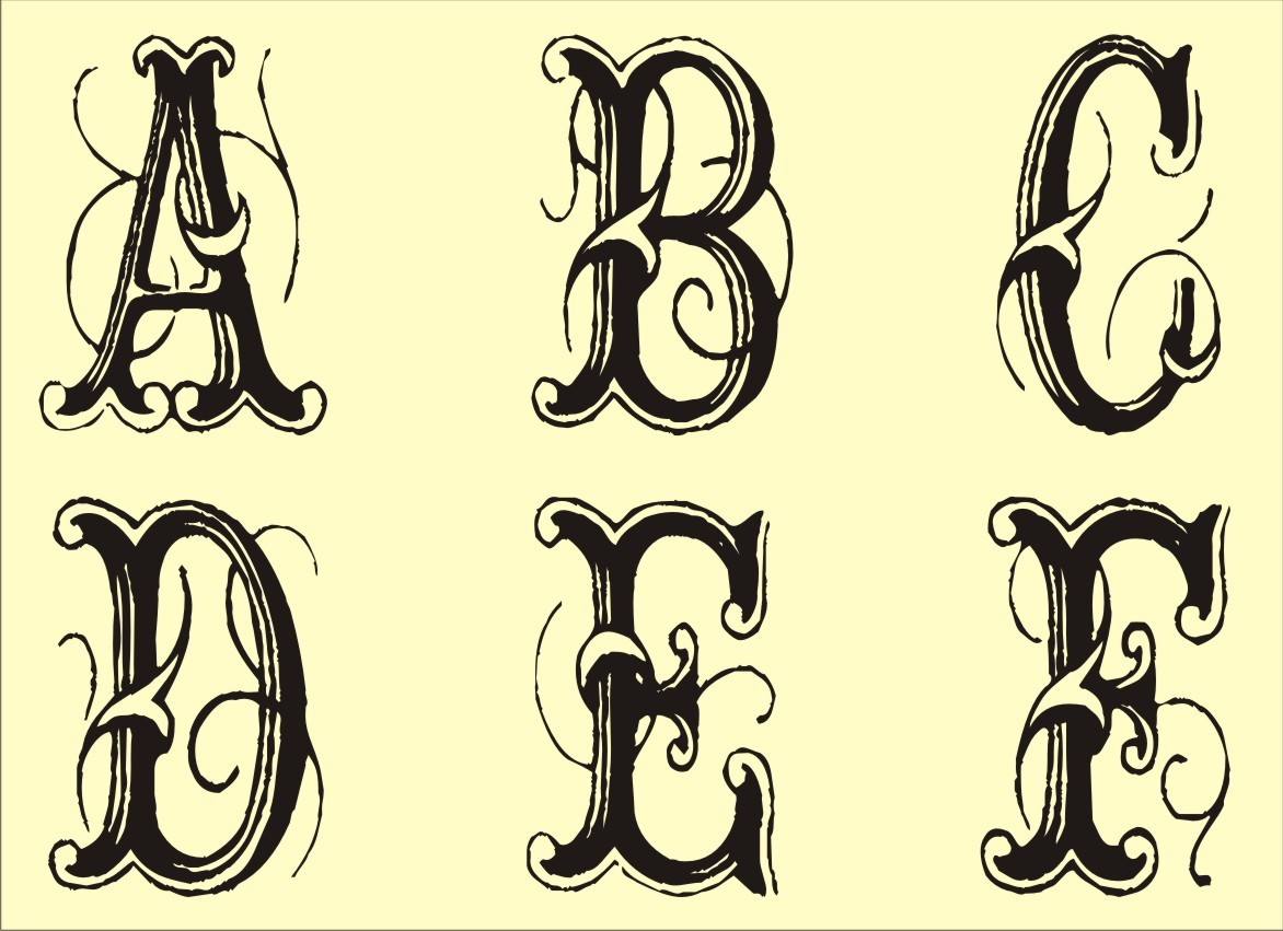 13 Printable Fancy Letter Fonts Images