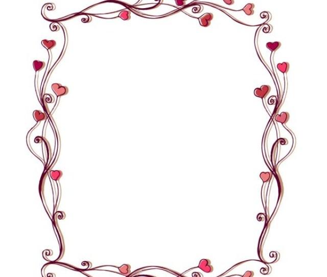 Free Black And White Heart Border Clip Art