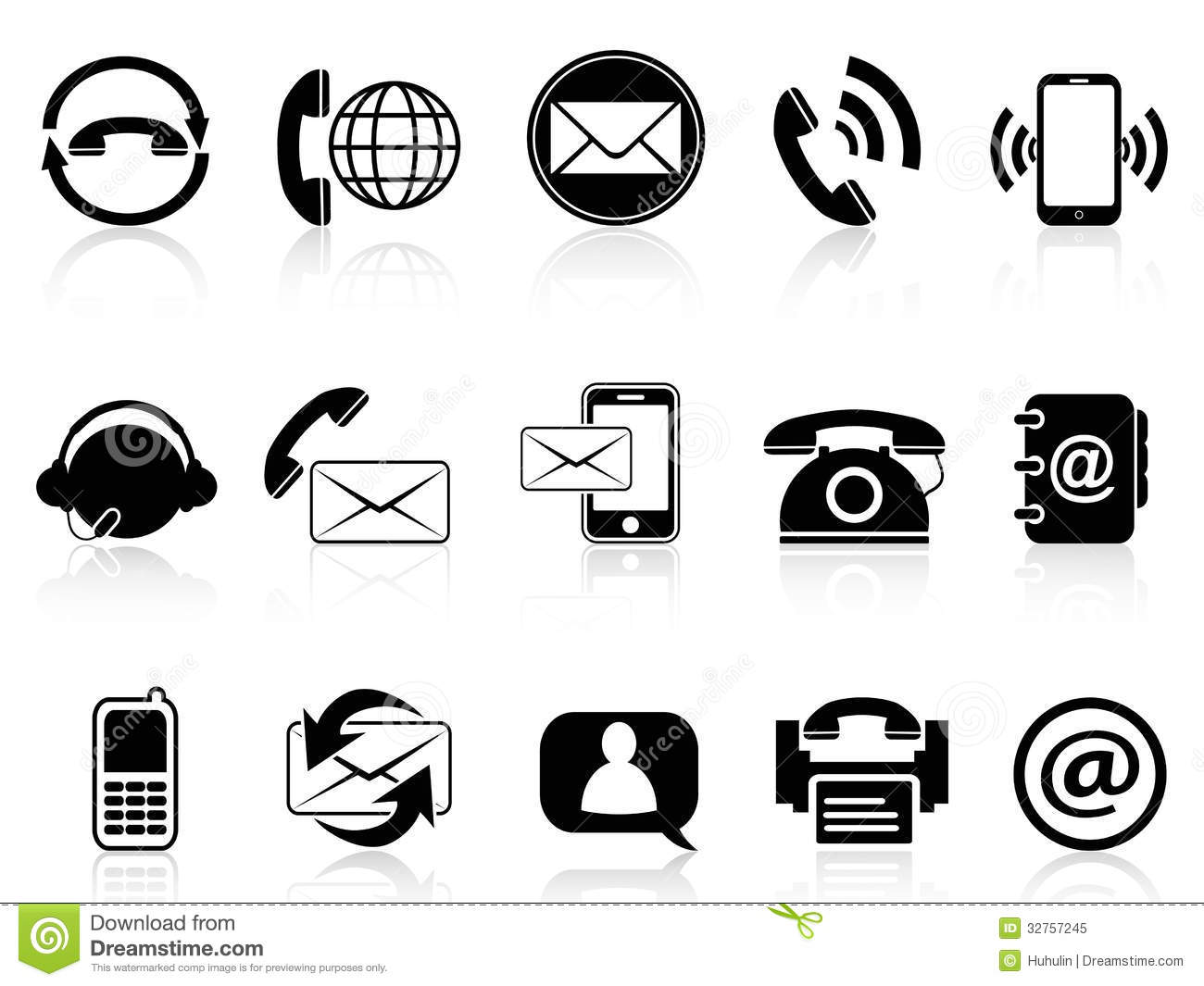 16 Phone Fax Email Icon Vector Images