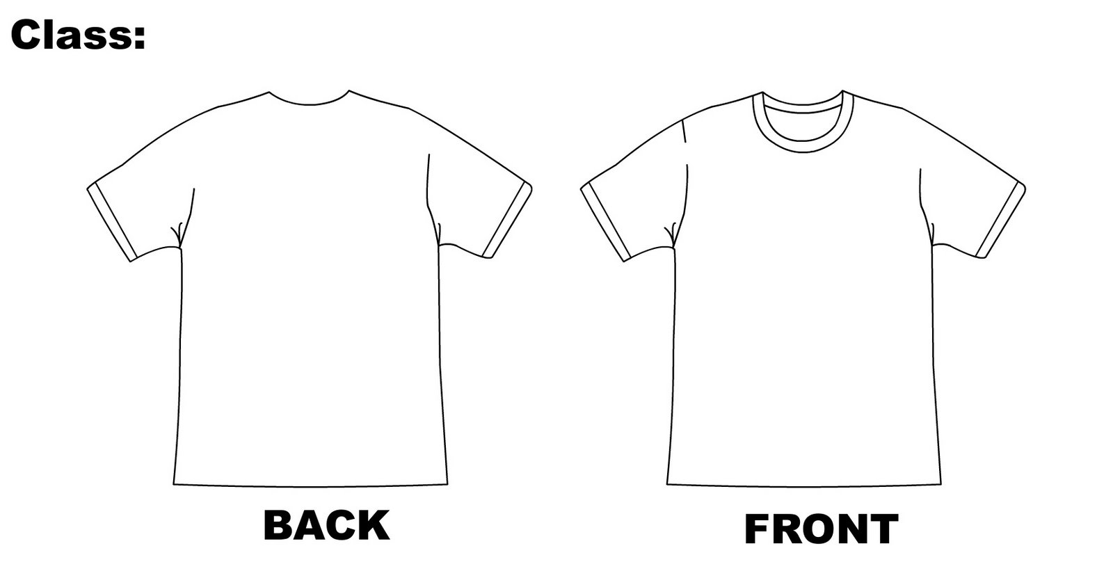 T Shirt Template Design
