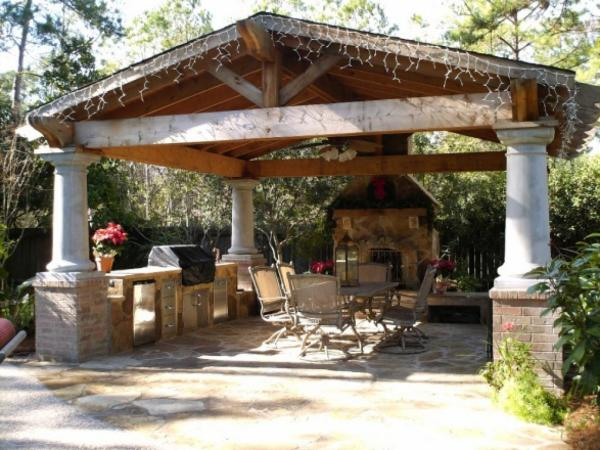 outdoor kitchen covered patio designs 17 Designs For Outdoor Covered Pavilions Images - Outdoor