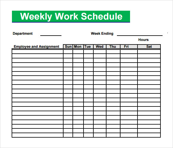 Title for blank monthly employee schedule template are treated as a month. 13 Blank Weekly Work Schedule Template Images Free Daily Work Schedule Template Printable Weekly Work Schedule Template And Blank Weekly Employee Schedule Template Newdesignfile Com