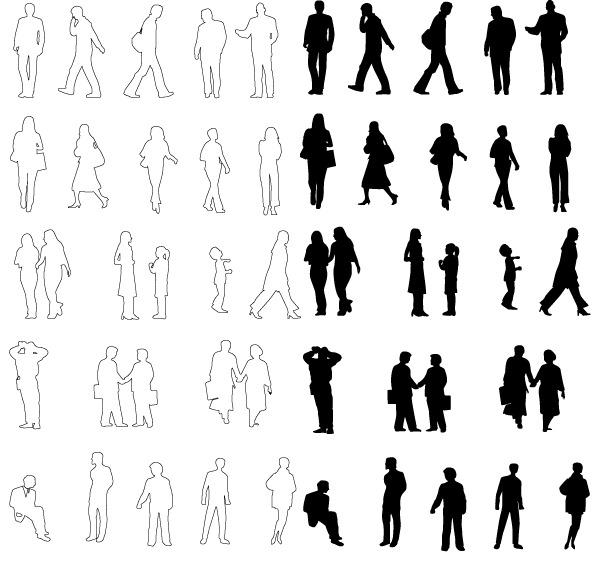 Render Human Figures Architecture