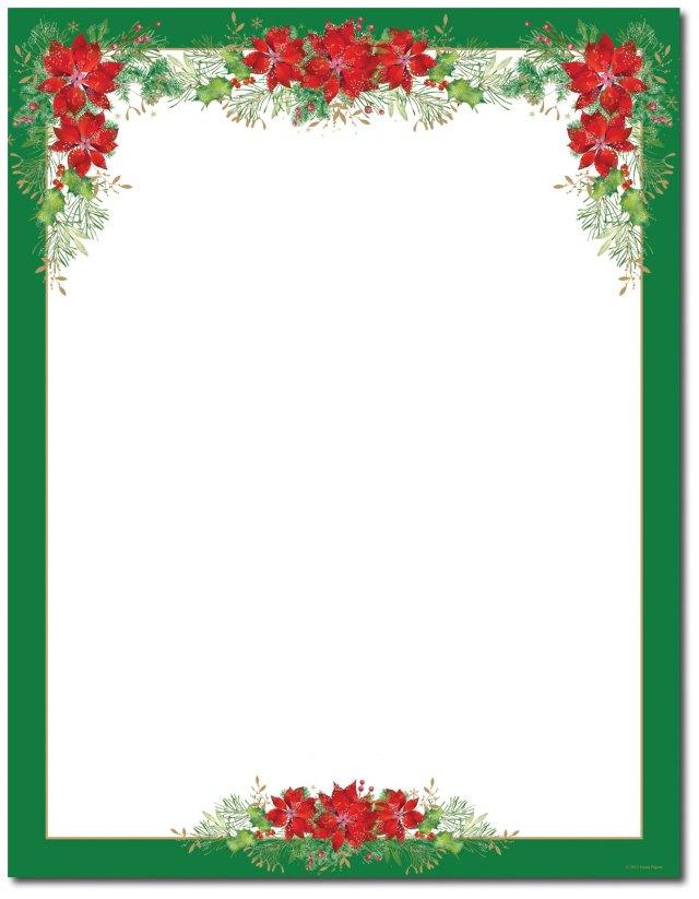15 Poinsettia Page Border Designs