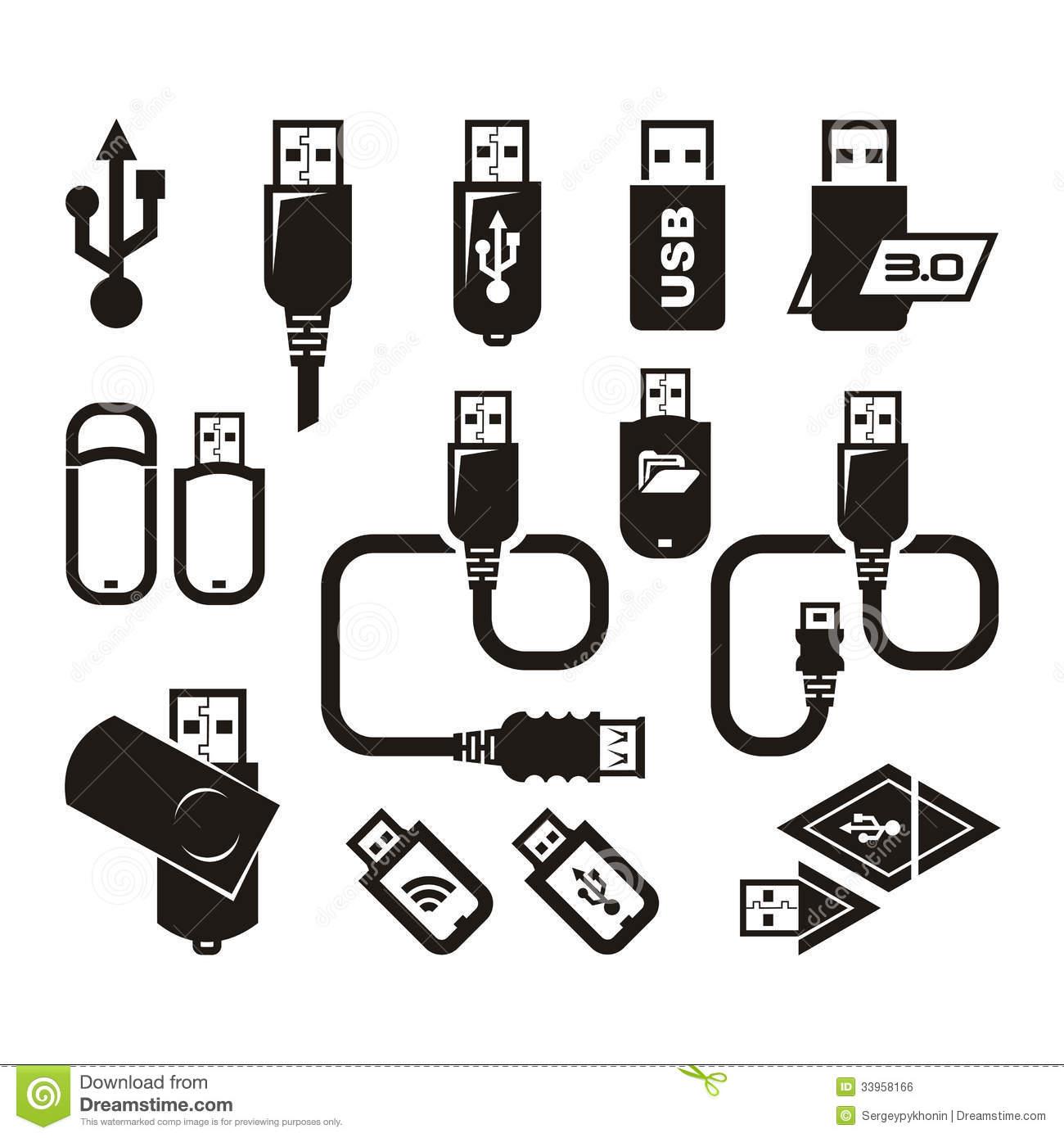 11 Usb Symbol Vector Images