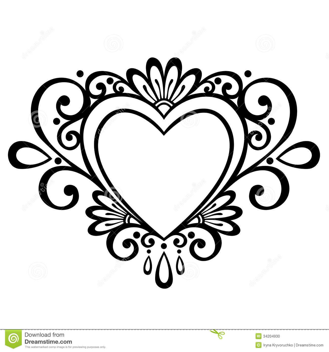 12 Double Heart Vector Art Images