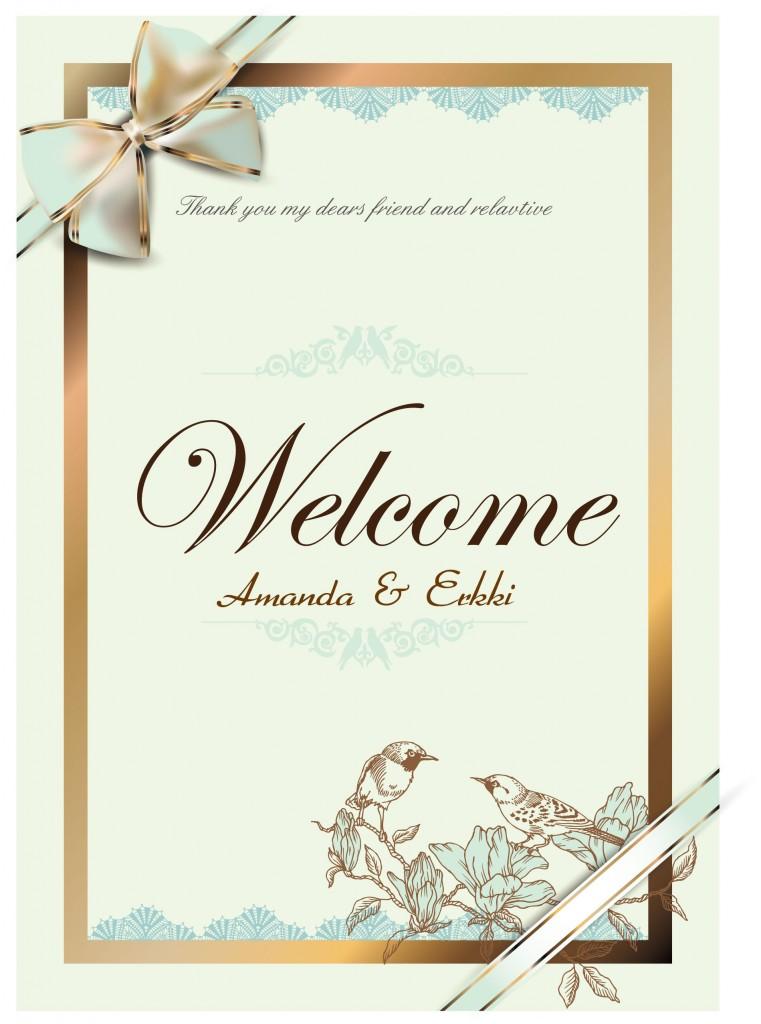 Elegant Wedding Invitation With Ribbond Free Vector