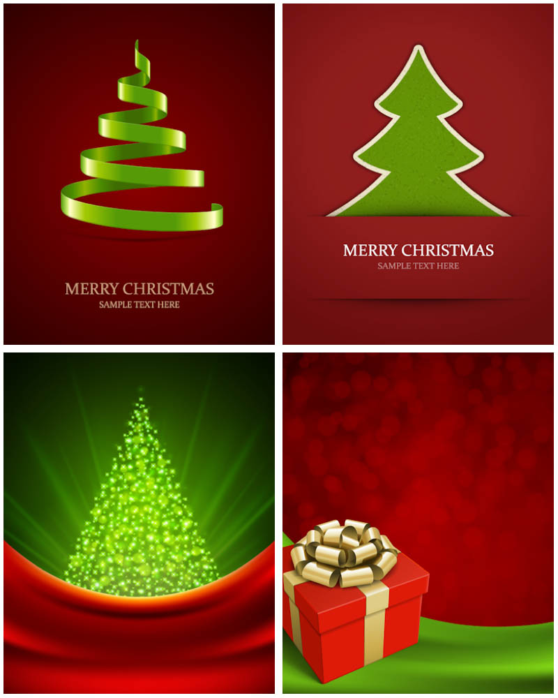 12 Contemporary Christmas Tree Vector Art Images Modern