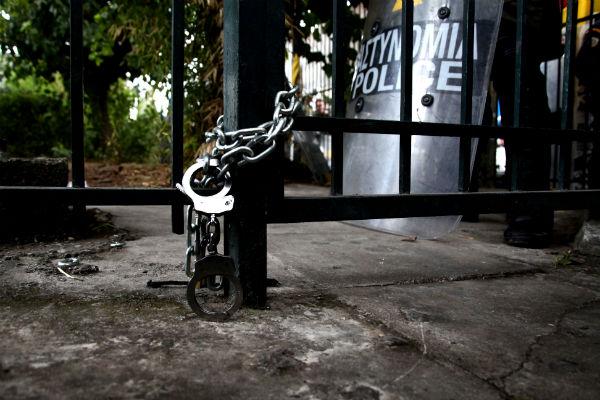 handcuffed ERT
