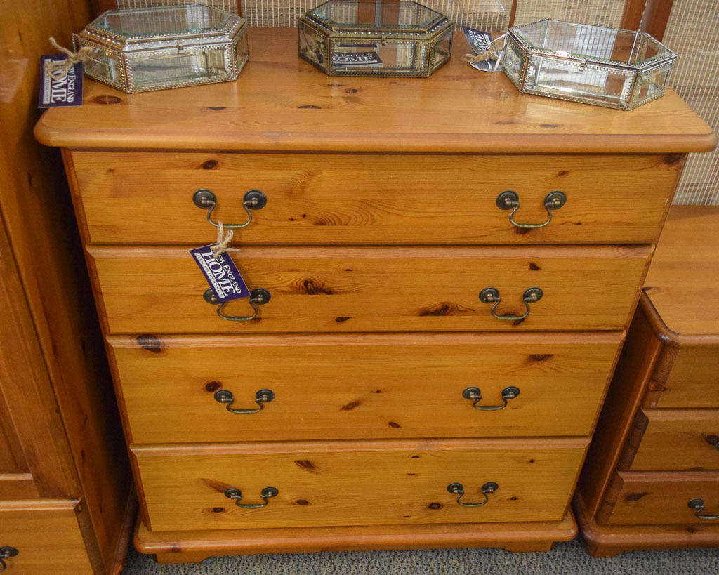 Knotty Pine 4 Drawer Chest New England Home Furniture