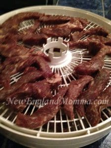 meat on dehydrator