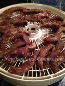 meat on dehydrator