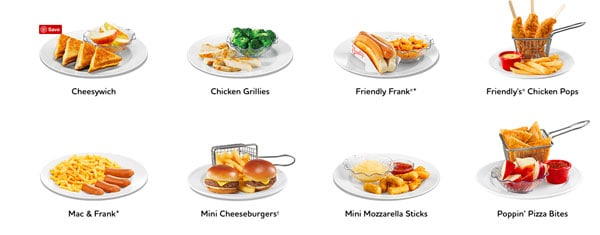 $1.99 Kid Meals M-F 4pm to Close at Friendly's Always include Ice Cream! - What's not to love?