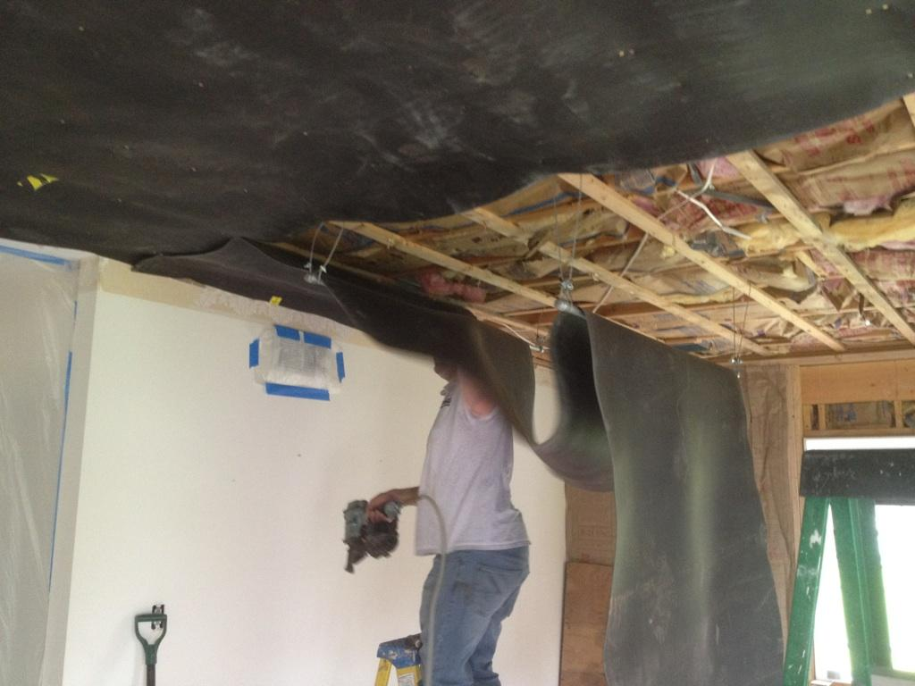Residential Home Soundproofing Living Room Ceiling Soundproofing