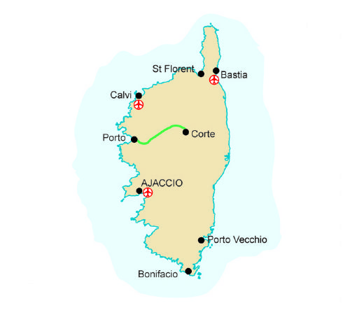 Spain France Corsica And Map