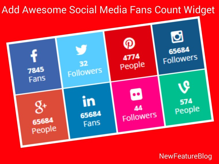 awesome social media fans counter widget in blog