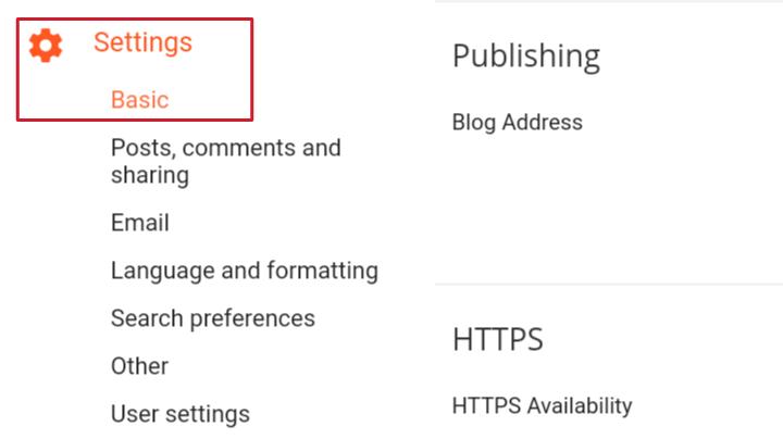 click on setting basic