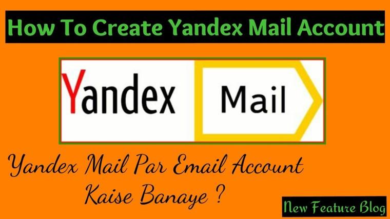 Yandex mail par account kaise banaye