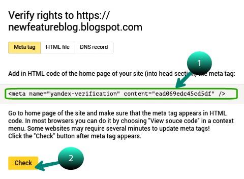 Meta code ko copy karke head ke niche paste Kate uske baad check par click kare