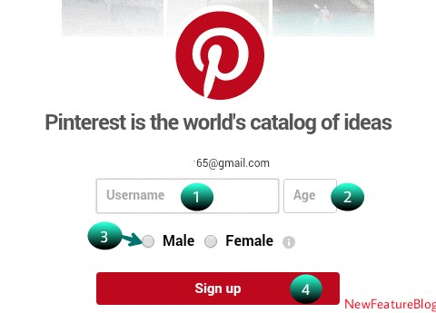write your name , age and click sign up