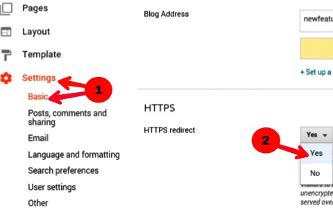 click on setting >> basic and infront of http choose yes