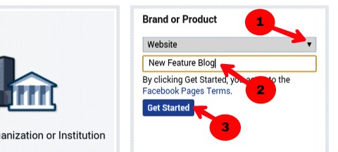 choose website from drop down menu and write blog title