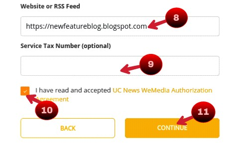 fillup all detail to submit blog in uc news