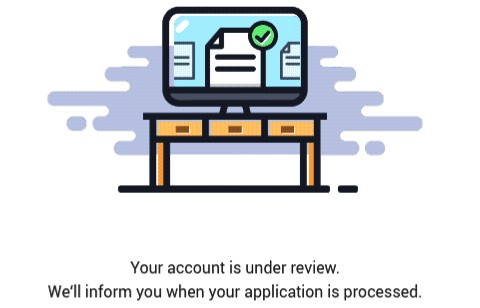 your account is under review will be shown