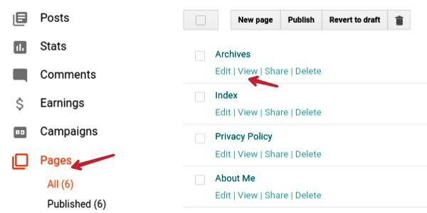 click-on-pages-and-copy-page-link-from-view-button
