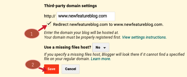 tick on redirect sitename.com to www.sitename.com