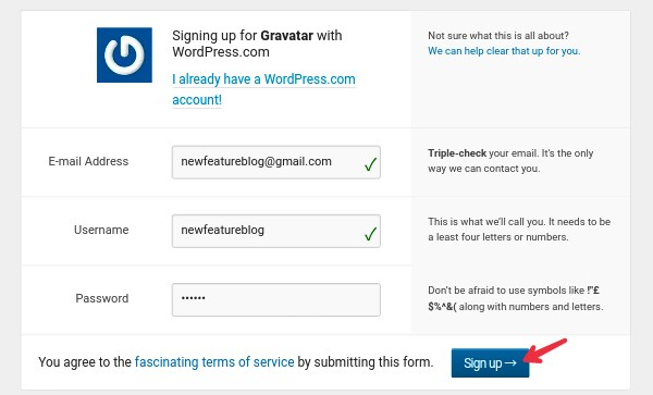 enter-email-user-name-password-and-sign-in-for-gravatar