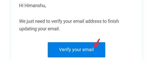 click on verify your email