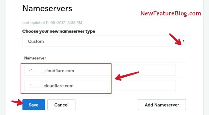 change domain name server