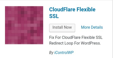 install cloudflare flexible ssl plugin