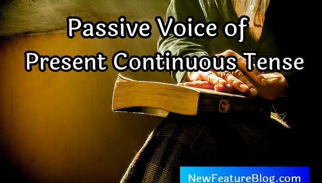 active and passive voice of present continuous tense