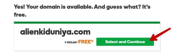 claim for free godaddy domain