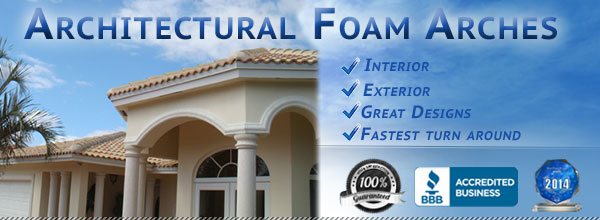 Architectural Foam Arches Best Design Fast Delivery