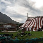 26 March 2019: The main circus tent and clubhouse are on prime, City-owned land at the bottom of Observatory, presided over by Table Mountain.