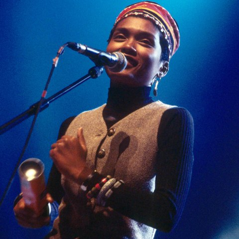 17 December 1994: Tarika performing live at London's Royal Festival Hall. (Photograph by Simon Ritter/Redferns)